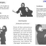 Kabarett Schmacht und FetzenFlyer1999